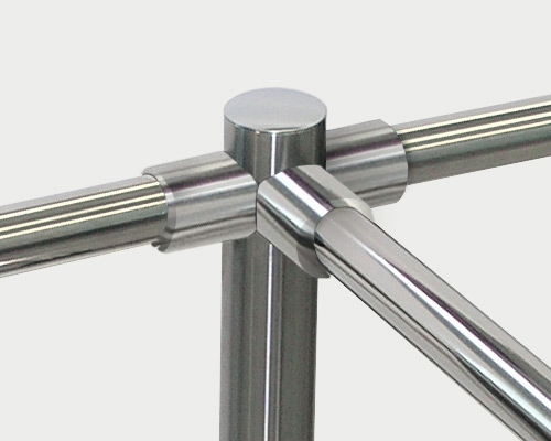 Standard railing fittings made of plastic