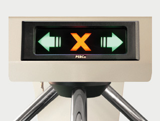 LED indicator in tripod gate