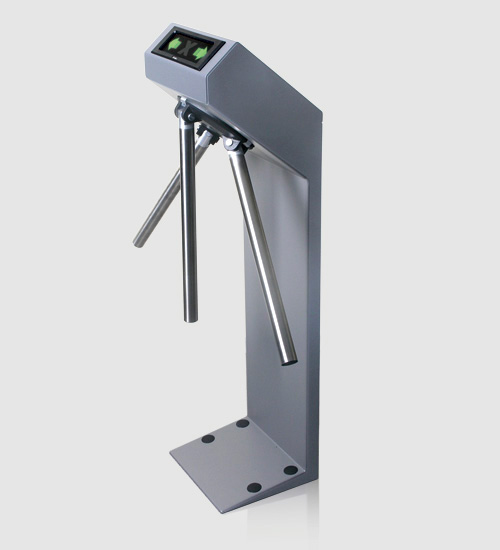 Compact turnstile folding arms released