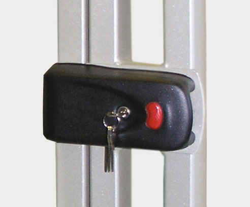 Attached electromechanical rim lock