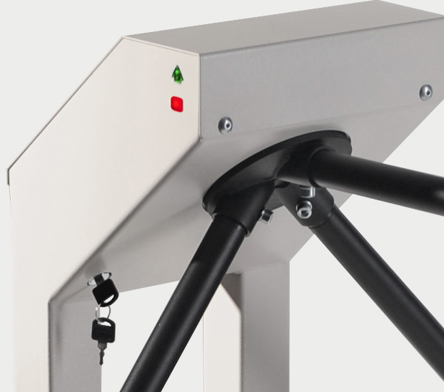 Compact security turnstile T-5 can be unblocked by the key in emergency