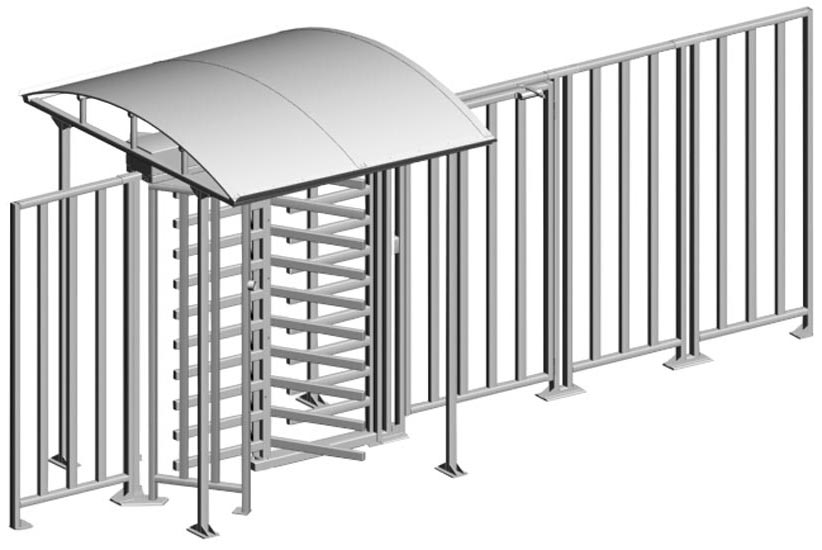 MB-15 full height aluminium railings - how it looks