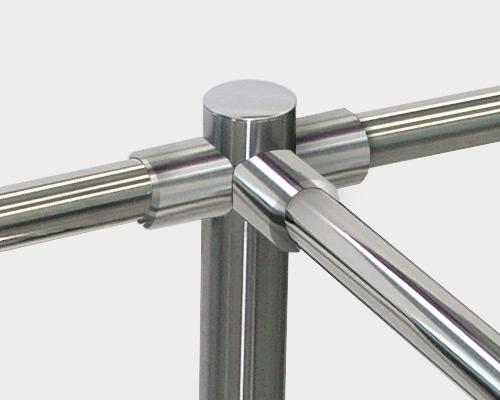 Standard railing fittings made of plastic