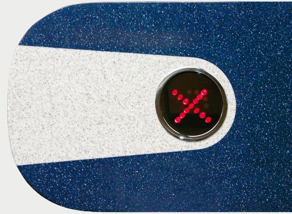 Visual LED indicator at 2 directions